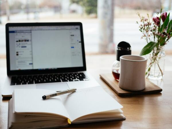 Laptop Next to Coffee