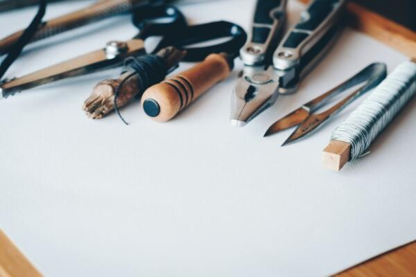 craft tools and pencils