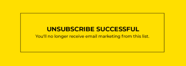 Unsubscribe icon