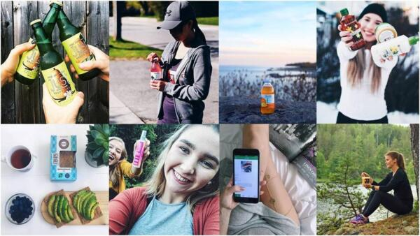 Influencer Content Collage