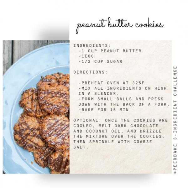 Peanut butter cookie recipe by @fortheloveoffoodandlife
