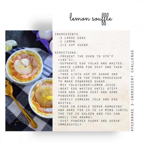Lemon souffle recipe by @zakrezinsta