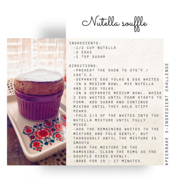 Nutella souffle recipe by @foodie.famous