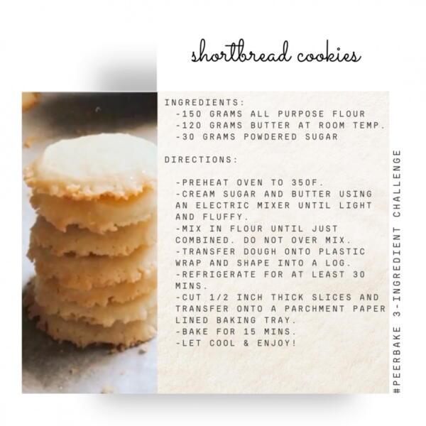 Shortbread cookie recipe by @linder_surprise
