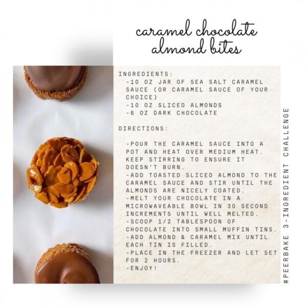 caramel chocolate almond bites recipe by  @purplechives