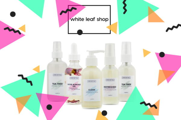 Product shot for small business White Leaf Shop