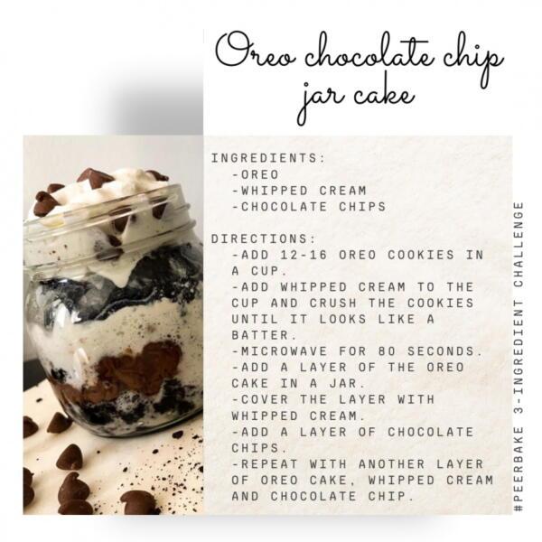 Oreo chocolate chip jar cake by @saafffaaaaa